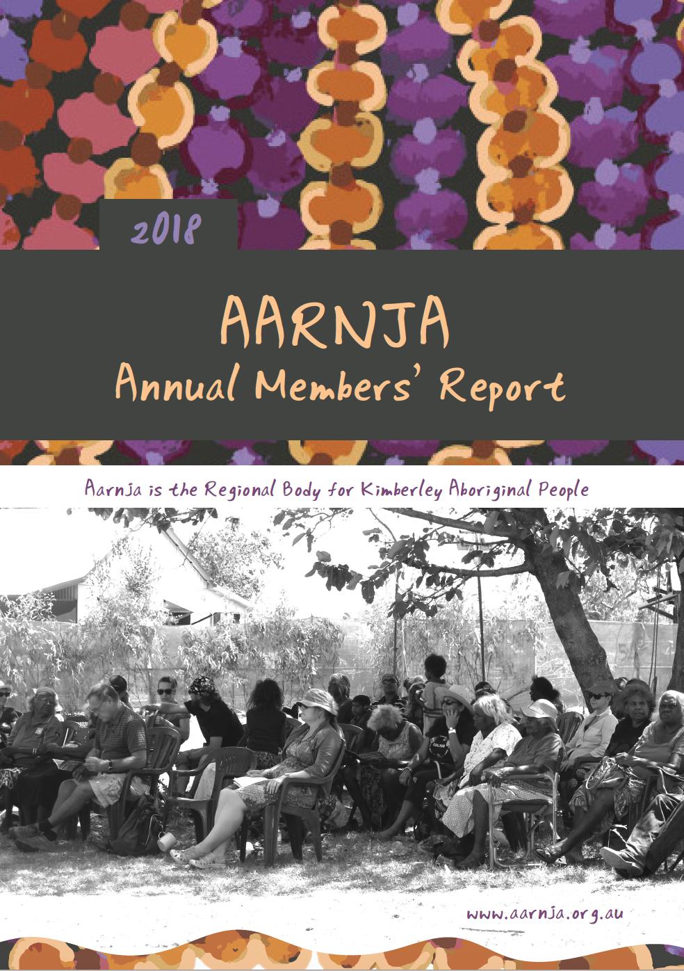 Aarnja Members' Report 2018
