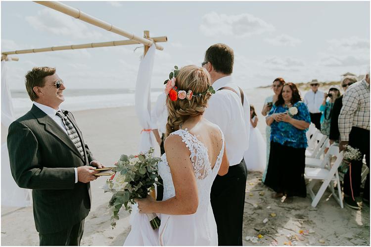 North Topsail Beach NC Boho Wedding