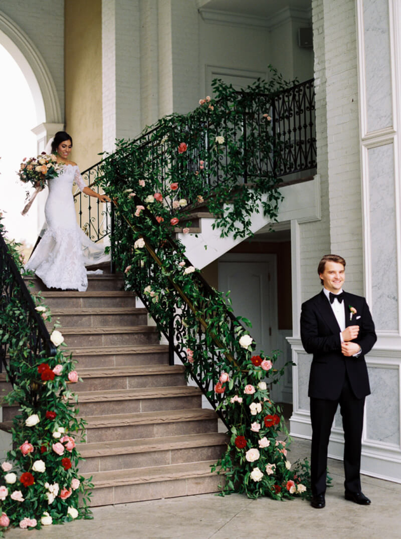 How To Decorate Stairs For Your Wedding The Carolinas Magazine