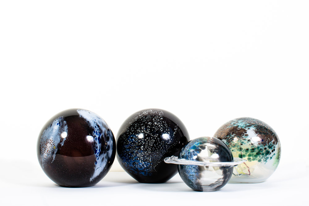 Planetary lignments Blown glass