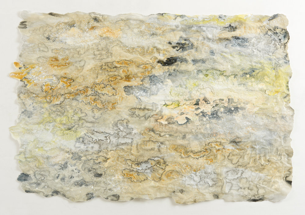 Sulphur Realm, mixed media on paper, 74 x 104cm