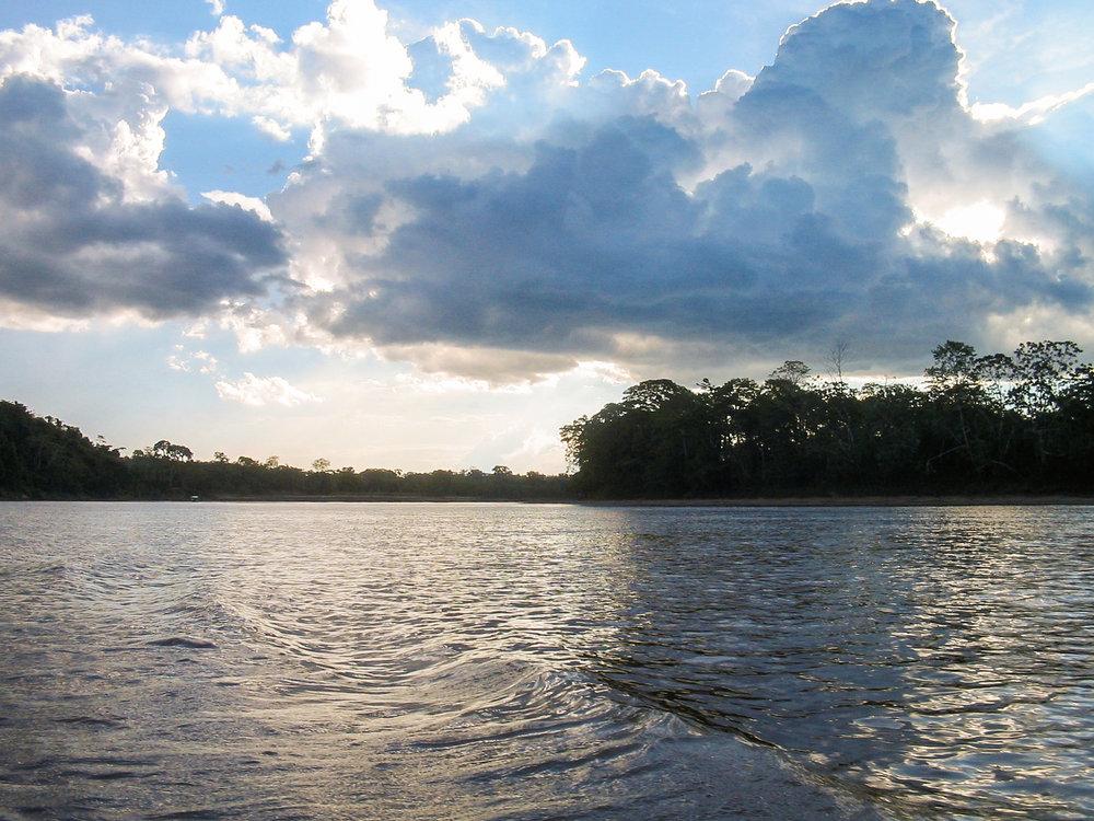 The Tambopata River, Madre de Dios, Peru.