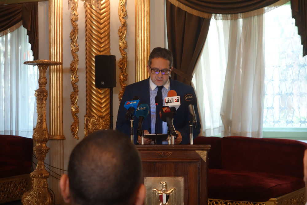 The Minister of Egyptian Antiquities Khaled El-Enany (photo: Giulio Lucarini)
