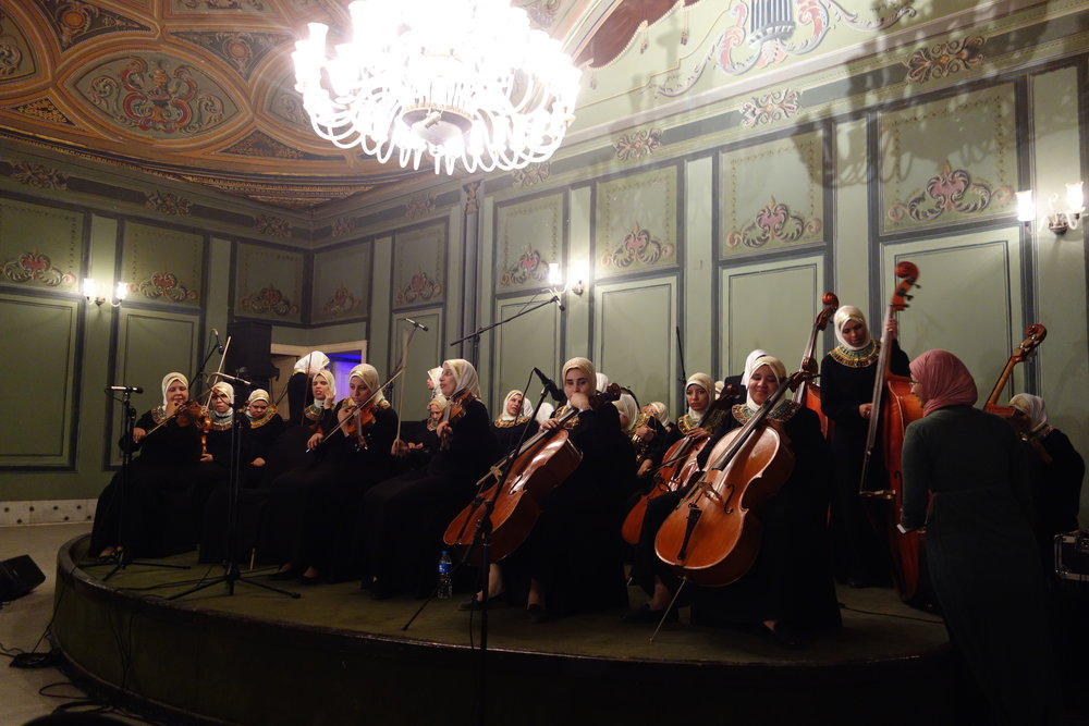 The concert of 'Light and Hope' orchestra organised for the SAEMT participants (photo: Giulio Lucarini)