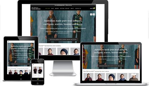 Reponsive website on desktop computer, laptop, tablet and iphone.