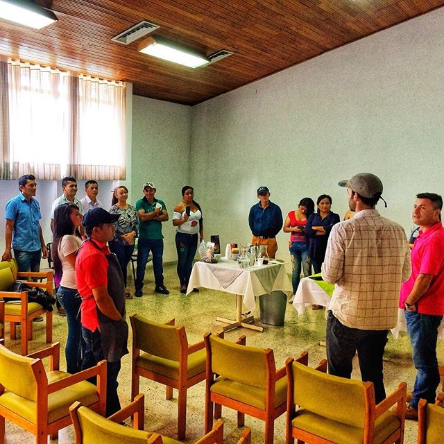 Honoured to have spent the day in Huila, Colombia with eight representatives of local coffee associations to discuss direct trade and sustainability of the coffee industry in the country.  Stay tuned for more updates this week as we visit different producers in the coffee growing regions of Colombia!  #directtrade #unichaparral #bluebarncoffee #ottawacoffee #canadiancooperativeassociation #colombiancoffee #coffeelife #origintrips #sustainability