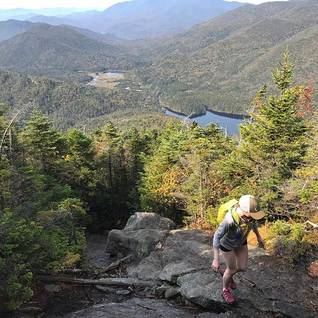 Throwback to last weekend, where we hiked through the beauty of the Adirondacks to recharge our batteries.  We walked across tiny walkways hanging  over water, skipped over rocks and squished mud under our shoes, soaking in the bright sunny skies & vibrant autumn colors ~  #adirondacks #adk #hiking #mountains #camping #autumn #mountainmeditation #recharge #sweatsweatsweat #hikinglife #hikinglove #fuelledbycoffee #bluebarncoffee #fullhearts