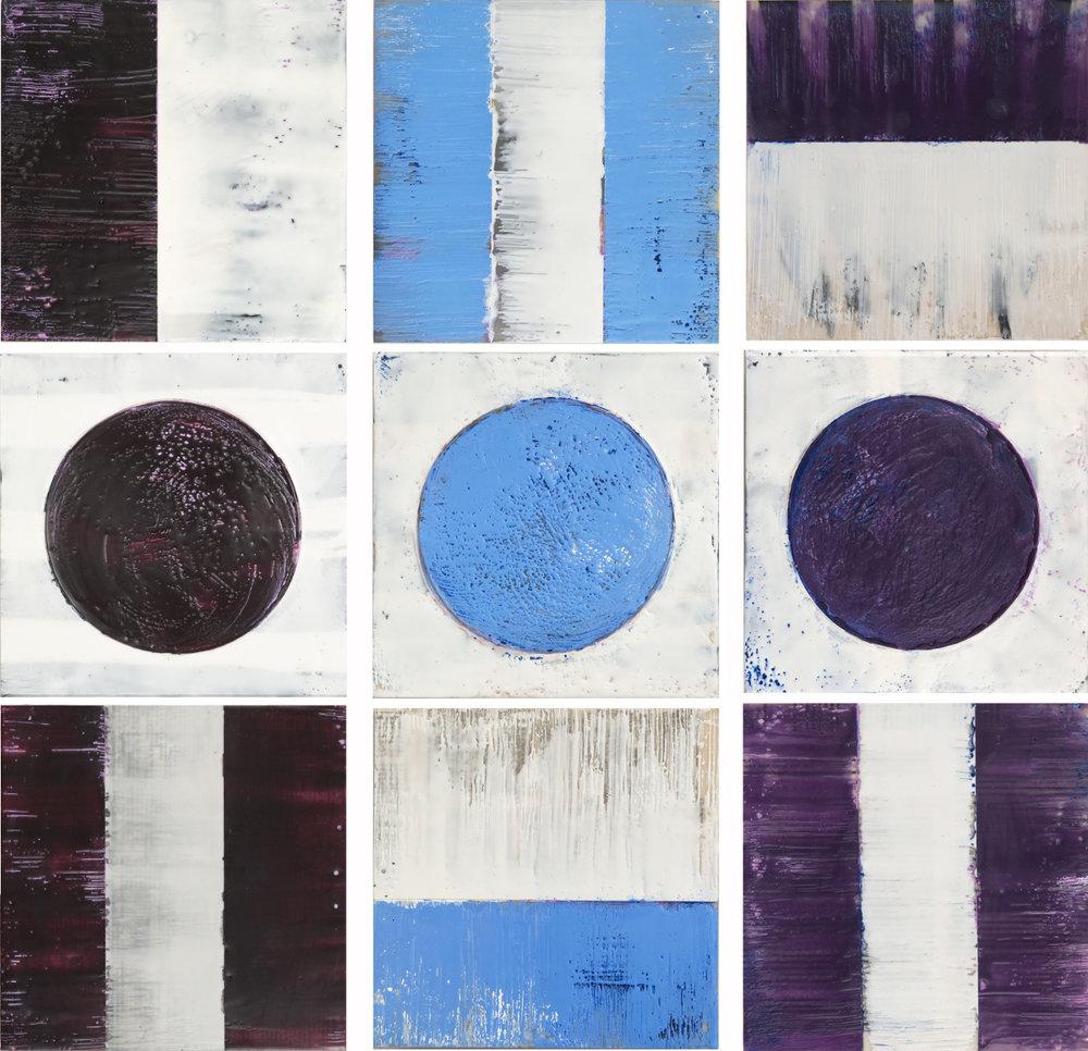 Color Study Totems - Aubergine, Sky, Violet