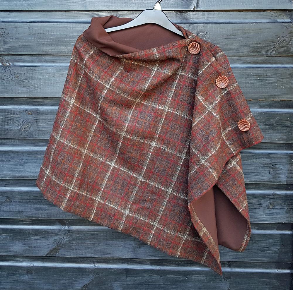 Brown wool wrap
