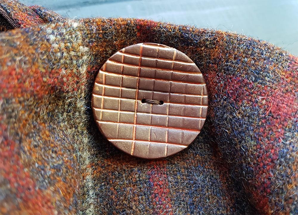 Brown button detail
