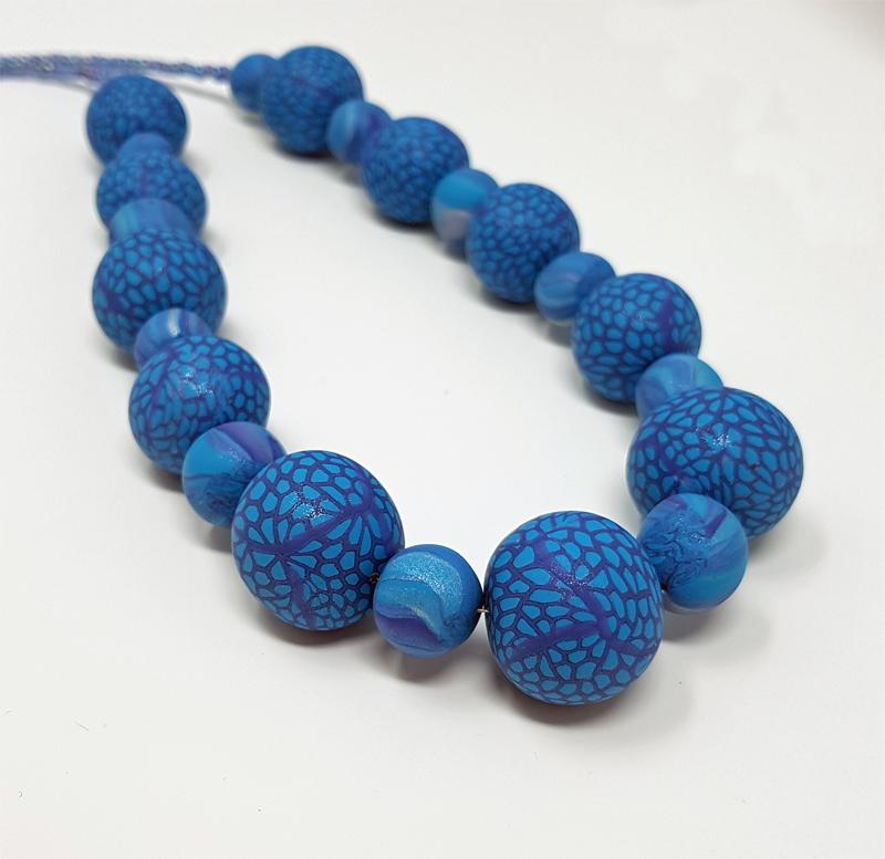 Millefiori Beads in Blue