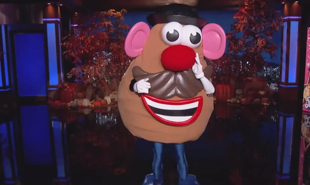 Jimmy Kimmel Halloween-2014 Mr. Potato Head Costume