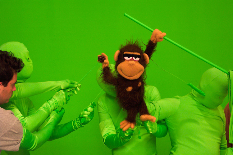 Crank Yankers-Monkey against Green Screen