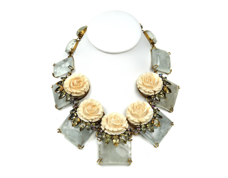 White Rose Necklace Iradj Moini