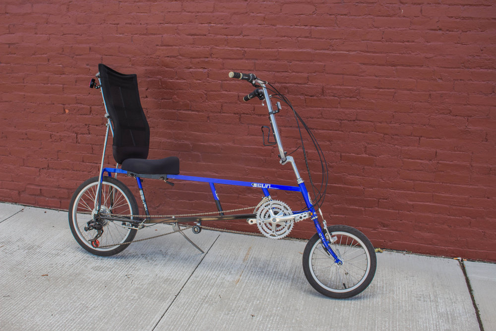 The  Sun recumbent  is  safer, more comfortable, and faster  than a tradition bicycle. Recumbants offer a  unique feel.