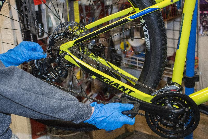 Do you want your bike to feel brand new?   A general tune up   includes all basic labors aside from disassembly's, such as brake adjustment, gears, lubing, tire inflation, bolt tightening, in-bike wheel trues etc.