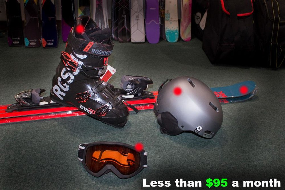 Men's Freestyle Ski Package