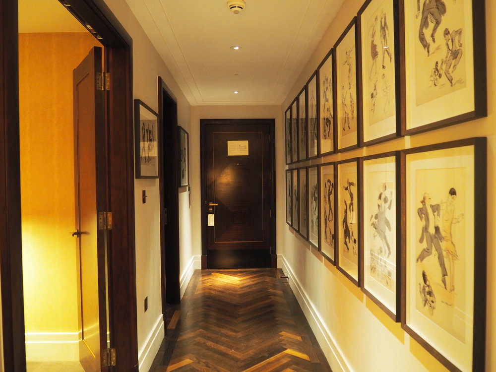 The entrance hall within The Terrace Suite