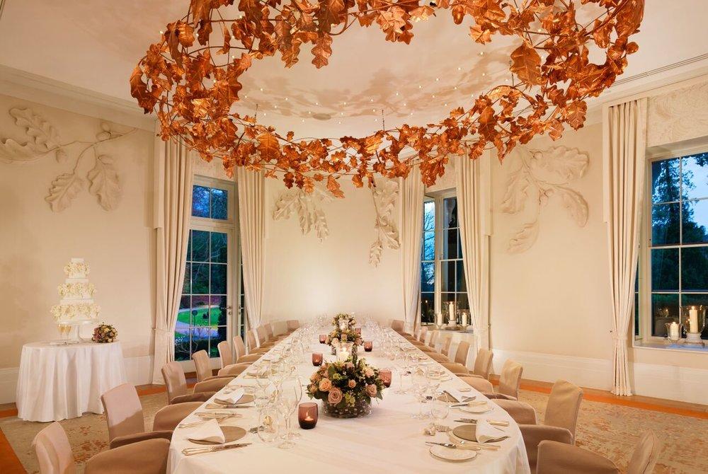 Oak Room wedding dinner
