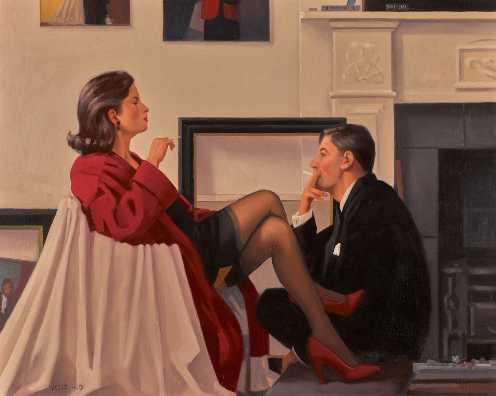 Lot 29 Jack Vettriano, Models in the Studio, oil on canvas (est. £40,000-60,000)