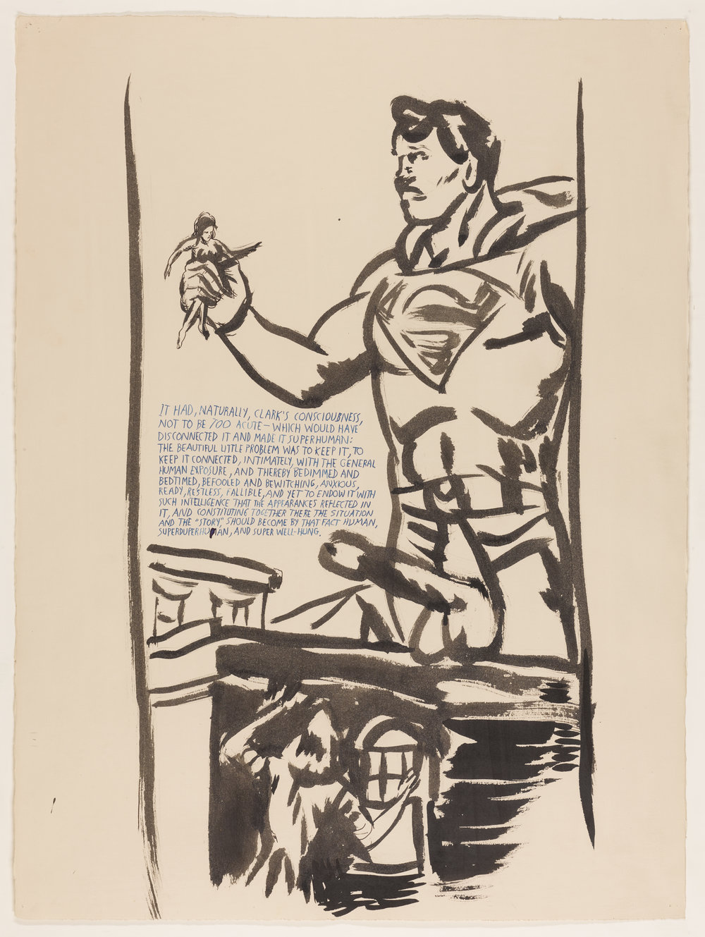 Lot 75 Raymond Pettibon, Untitled (It had Naturally…), ink on paper, 1999 (est. £10,000-15,000).