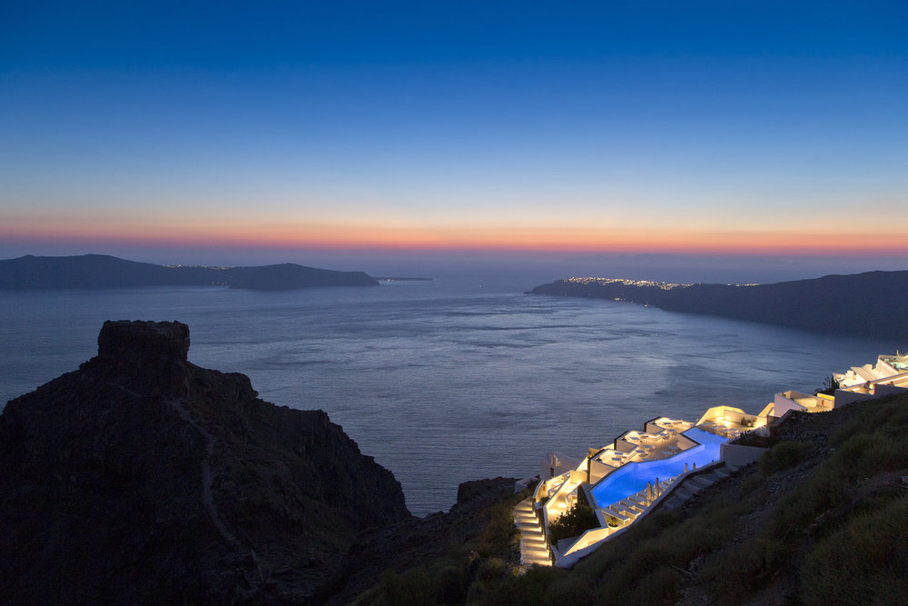 Grace Santorini Exterior View Night