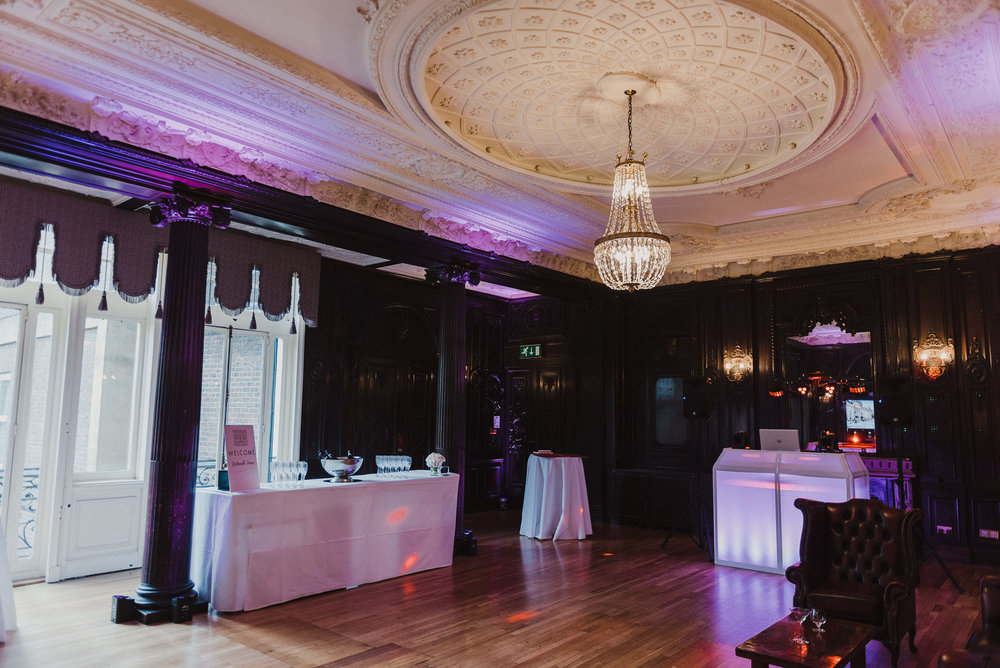 The Churchill Room is a spacious, licensed ceremony room and area for DJs, live amplified bands and dancing!