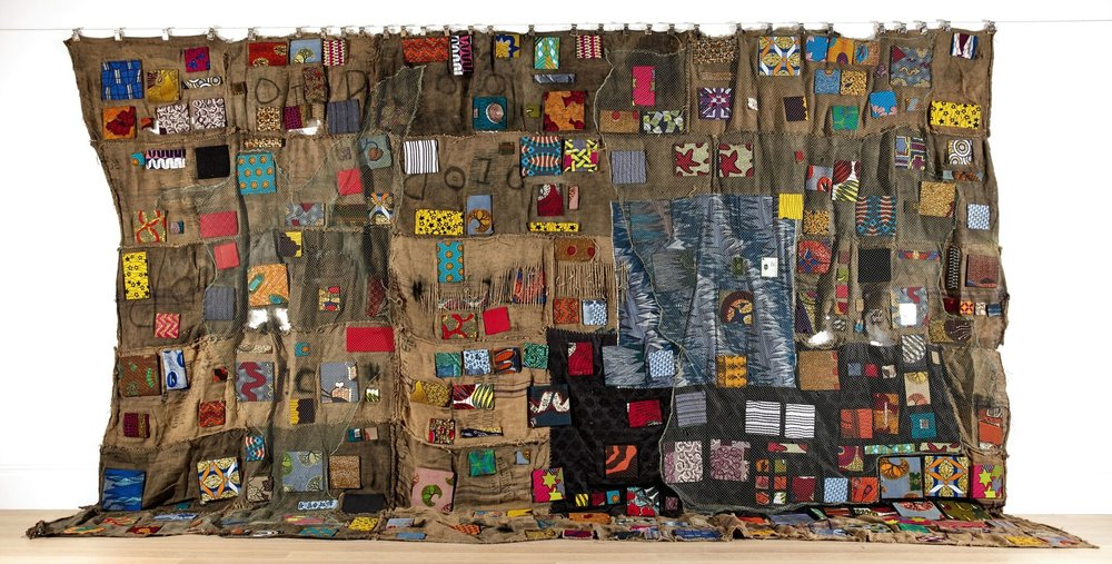 Ibrahim Mahama, Chale Wote (2014), jute sacks and mixed media, £60,000-90,000