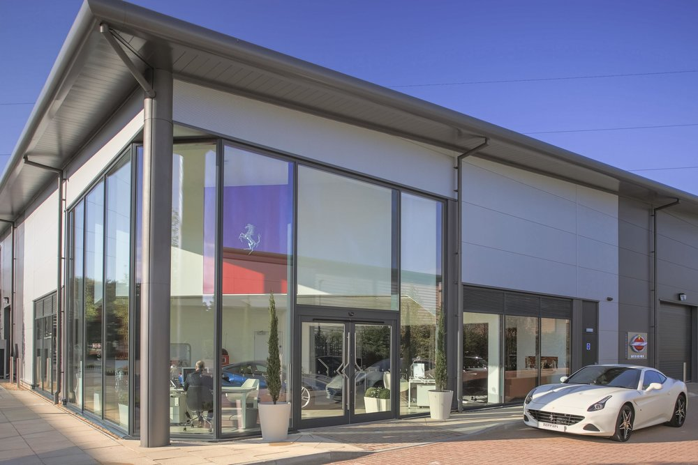 New Ferrari Service Centre at Meridien Modena, Lyndhurst.jpg