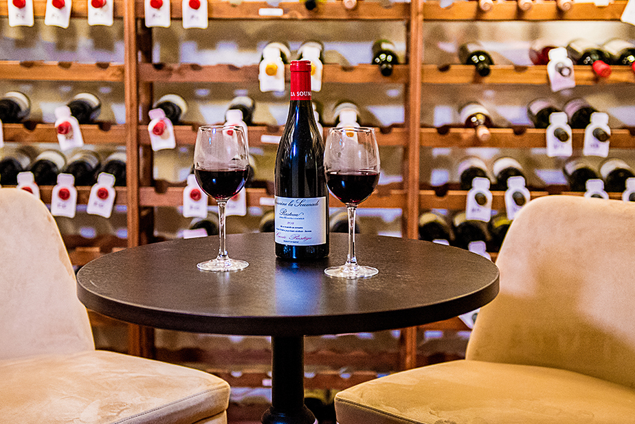 A MAYSYA highlight: The wine cellar attached to the private dining room
