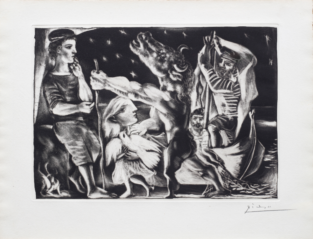 Pablo Picasso | 'Blind Minotaur led by a little Girl in the Night' | 1934 |Estimate: £60,000 – 80,000