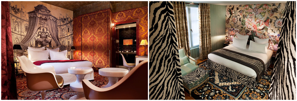 Above: Deluxe Rooms | Cover photo: Lounge at Hotel du Petit Moulin