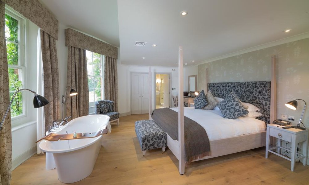 Deluxe Double Room with views of sweeping gardens maintained in homage to the work of Capability Brown.