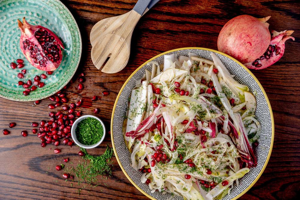 Mount Street Deli x Nina Parker - Fennel, Pear & Pomegranate Salad