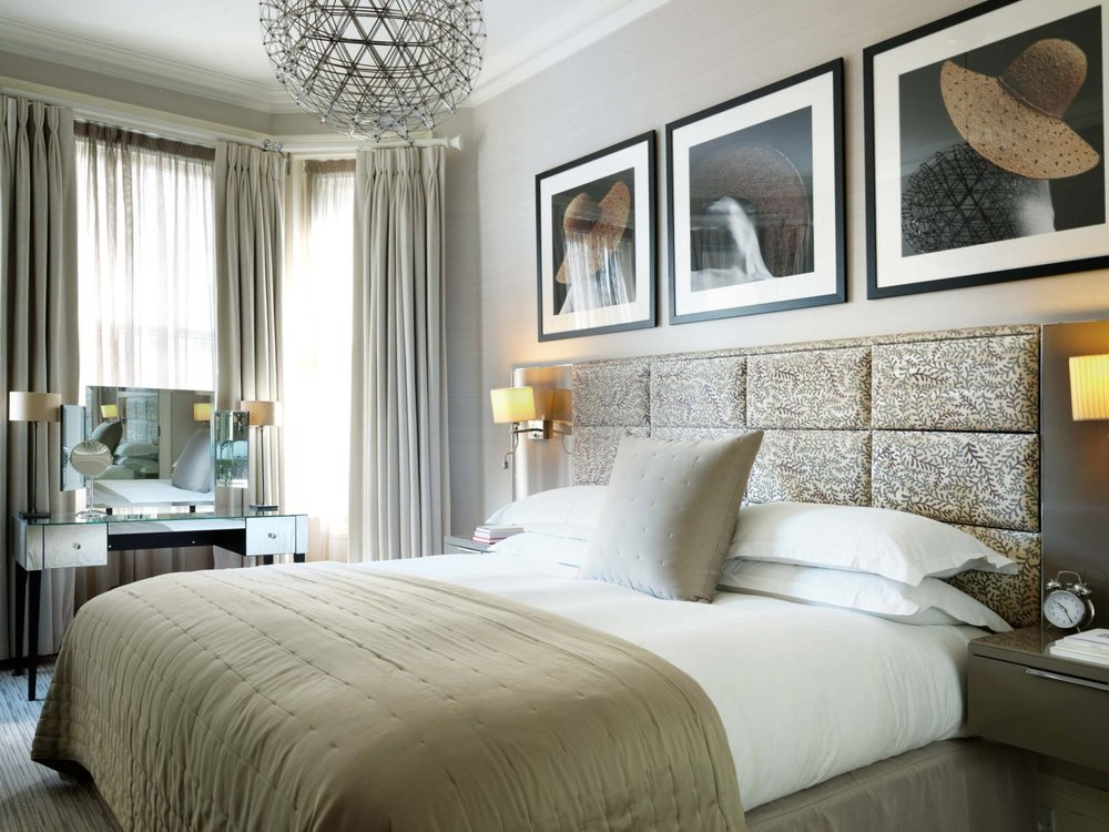 A beautiful king-sized bed provides guests with a wonderfully comfortable and peaceful night's sleep