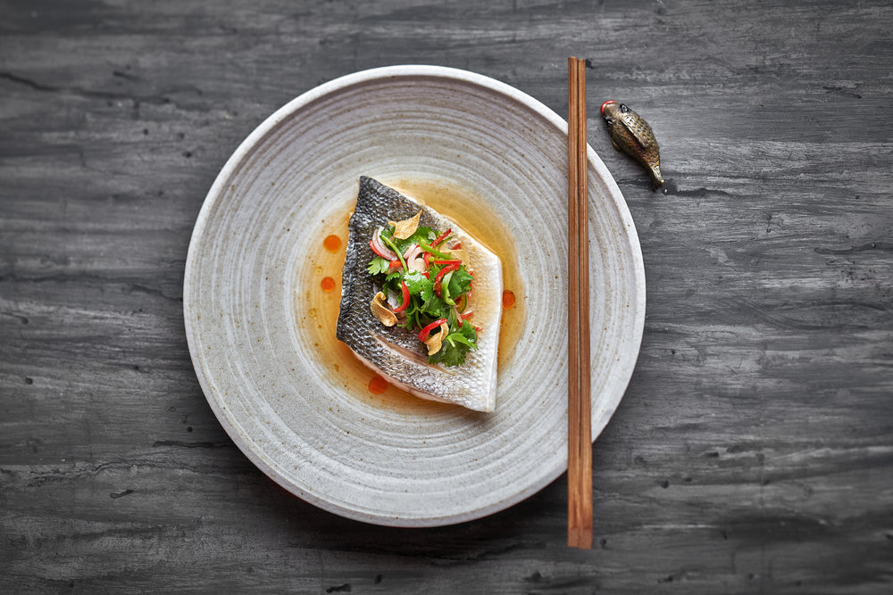 Steamed Seabass with Coriander & Chilli