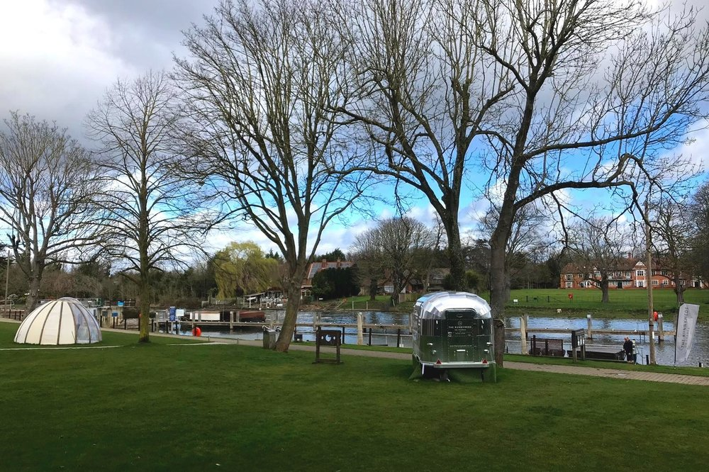 Available for private hire for meal times: The Runnymede Igloo! The stocks are great for unwanted friends or family members. The food truck opens in the summer.