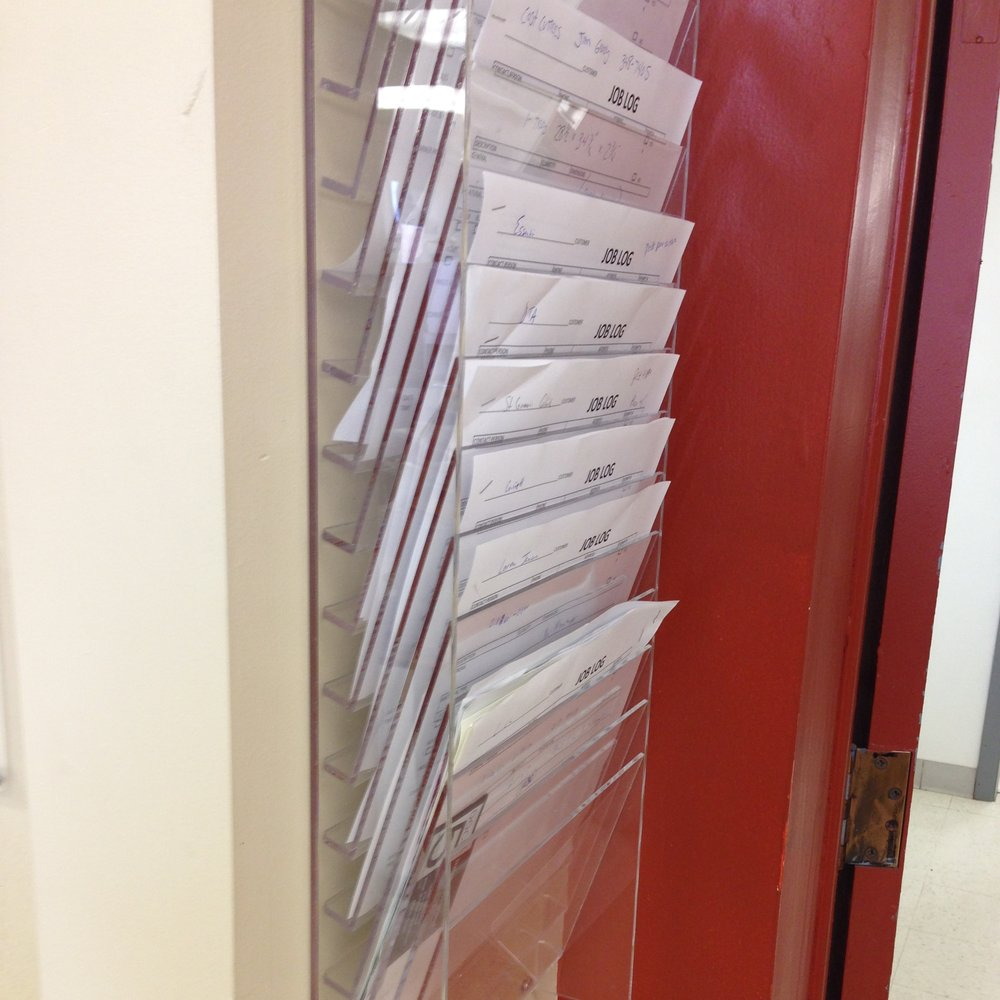 Wall-Mount Multi-Sheet Job File Holder