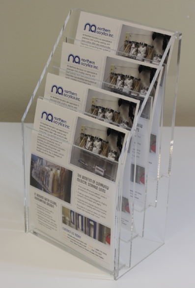 "4 Tier Literature Display   Item#  LH-8511-4T  Price:  $74.20 each  Dimensions:  8.5"" x 11.00"""