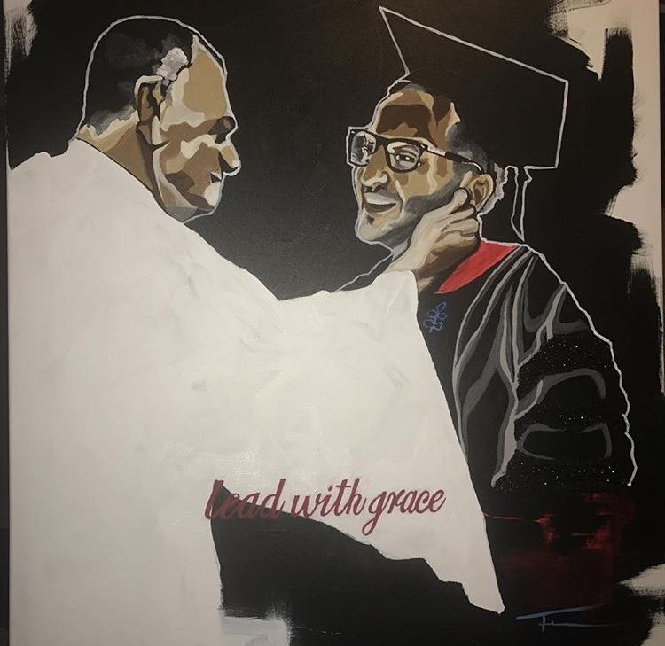 """graduation gift for Ali: """"lead with grace"""""""