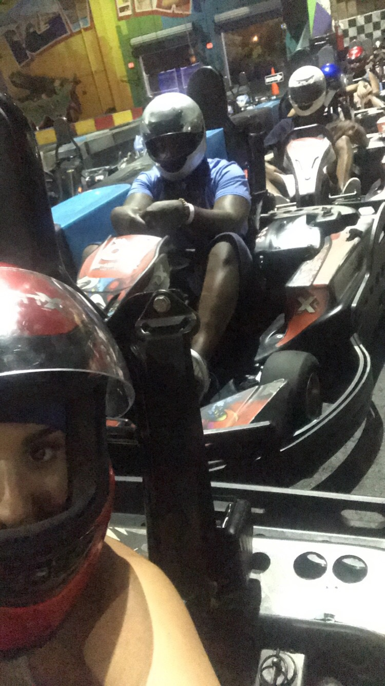 racing at xtreme action park in Fort Lauderdale