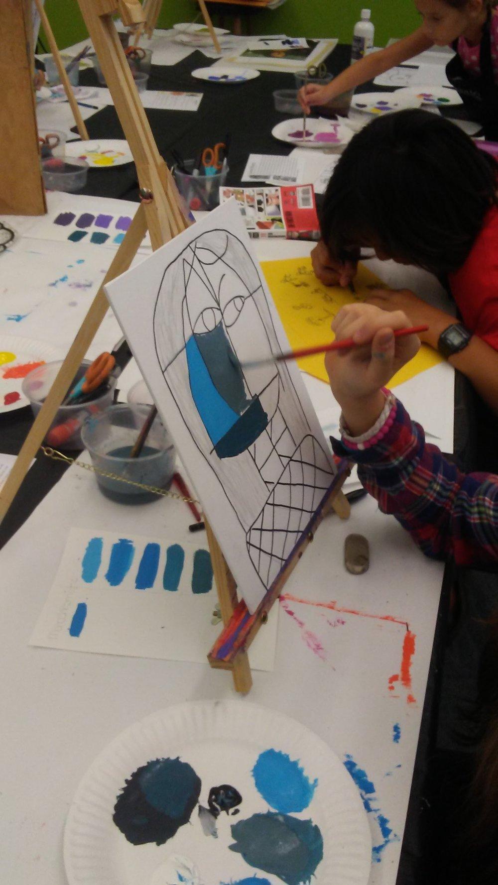 Klee inspired self-portraits.