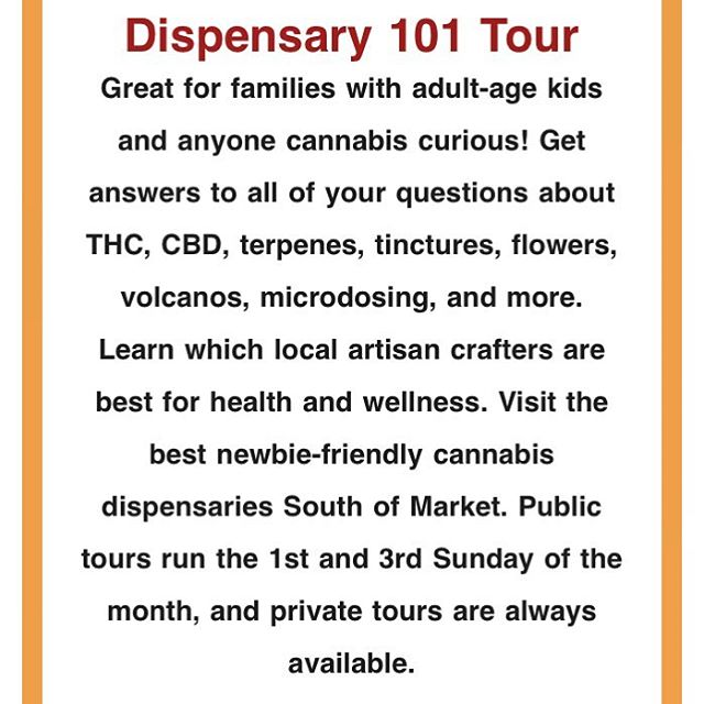 Book now and come join the fun. Private tours are available, too! #cannabistours #cannabiseducation #wellness #cbd #thc #mmj