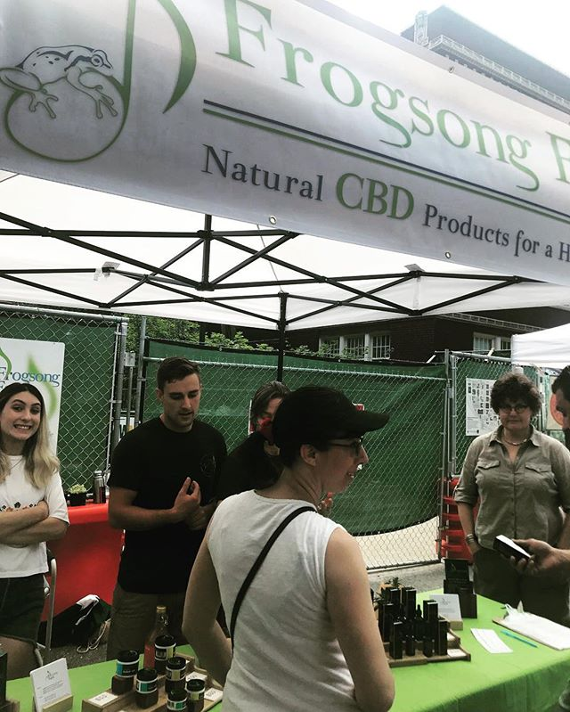 Excited to see CBD products in the Portland Farmers Market.