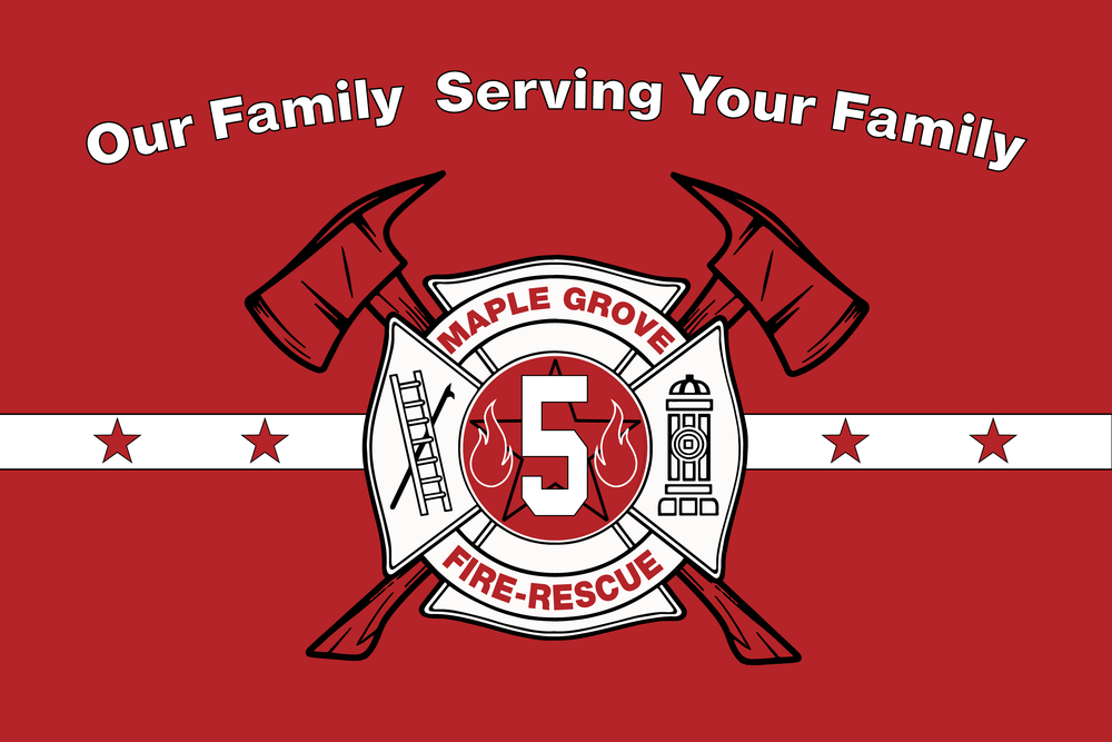 MAPLE GROVE FIRE STATION 5 FLAG