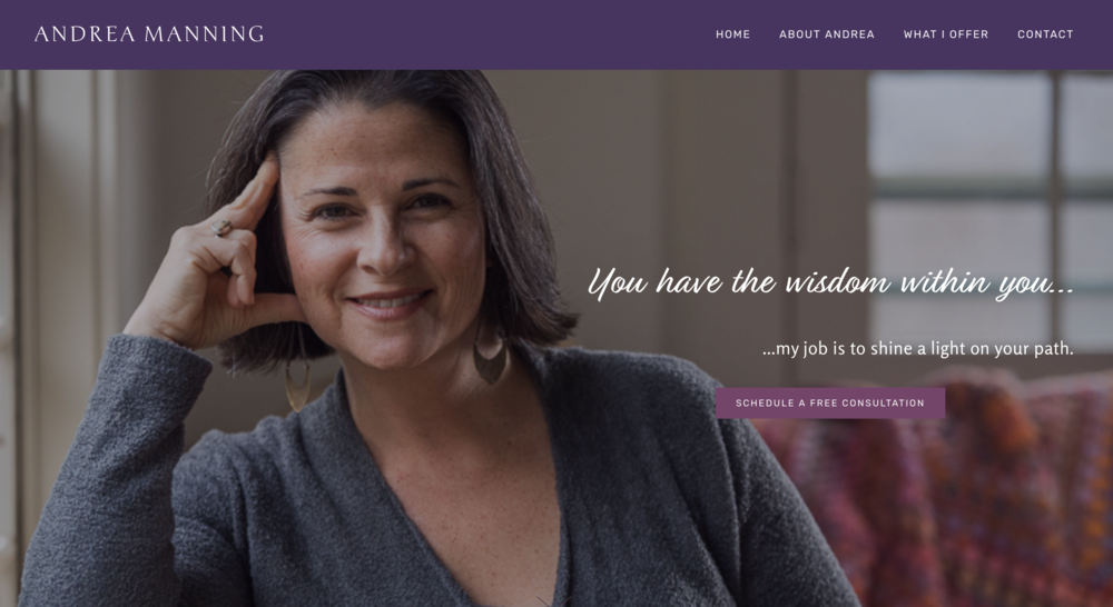 Affordable web design for Andrea Manning - Life Coach