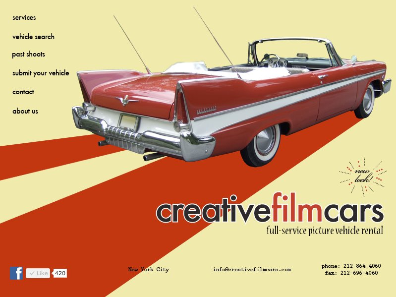 Creative Film Cars Website
