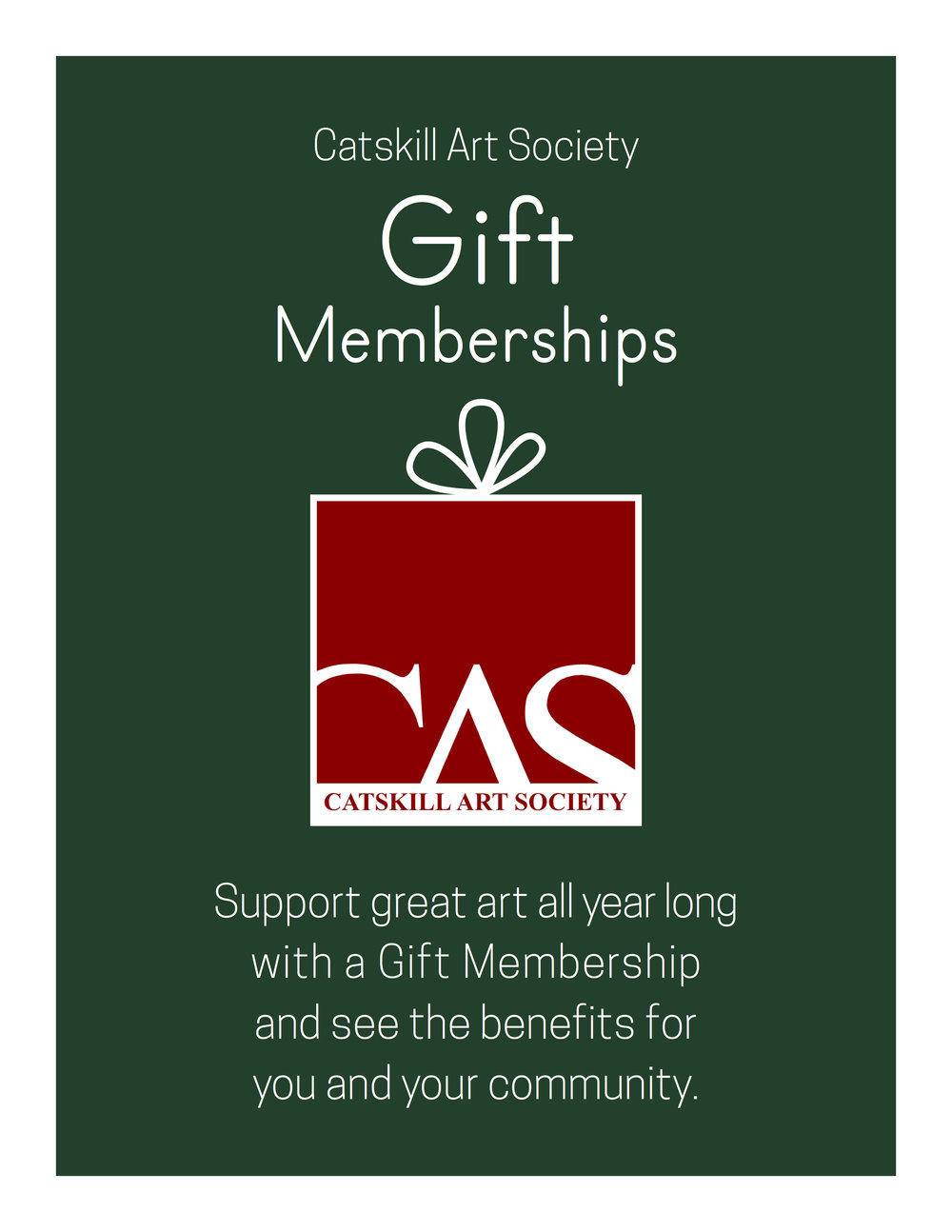 CAS Gift Membership Poster