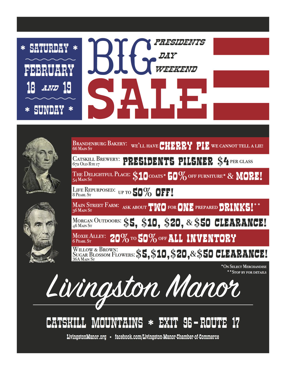 Presidents Day Weekend Big Sale