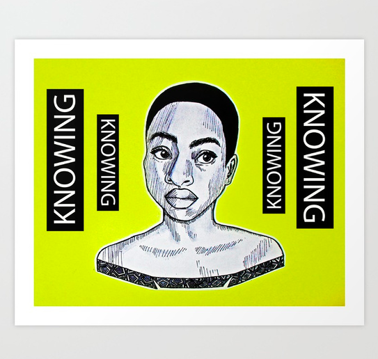 """""""Knowing"""" print  (framed options available)   starting from $18.99"""
